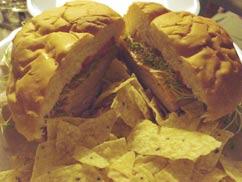 Lava Javaのサンドイッチ