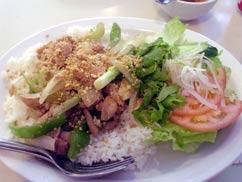 Rice w/Sauteed Lemon Grass Spiced Chiken