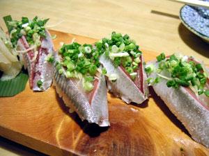 いわしの握り寿司