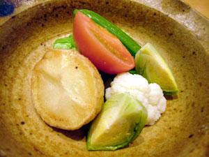 冷たい野菜