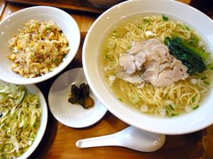 とり拉麺(塩)@拉麺○健