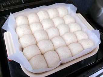 ちぎりパン二次発酵