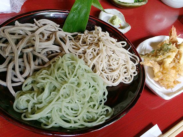 蕎仙坊(きょうざんぼう)-天ぷら付三色そば