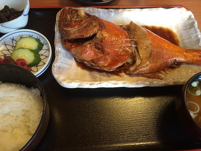 食事処池田-金目鯛煮魚定食