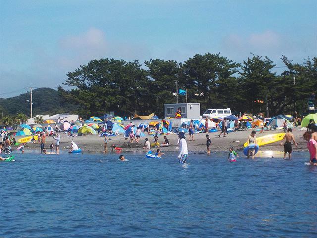 波佐間海水浴場(館山市)-海から