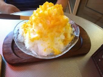 パティスリー イルコンフィ(patisserie ile confi)-かき氷(練乳パッションマンゴー)