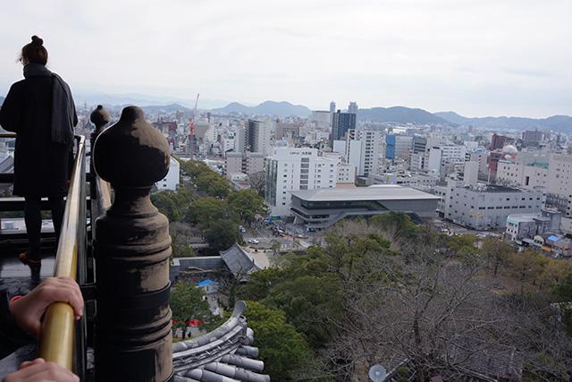 高知城天守からの眺め